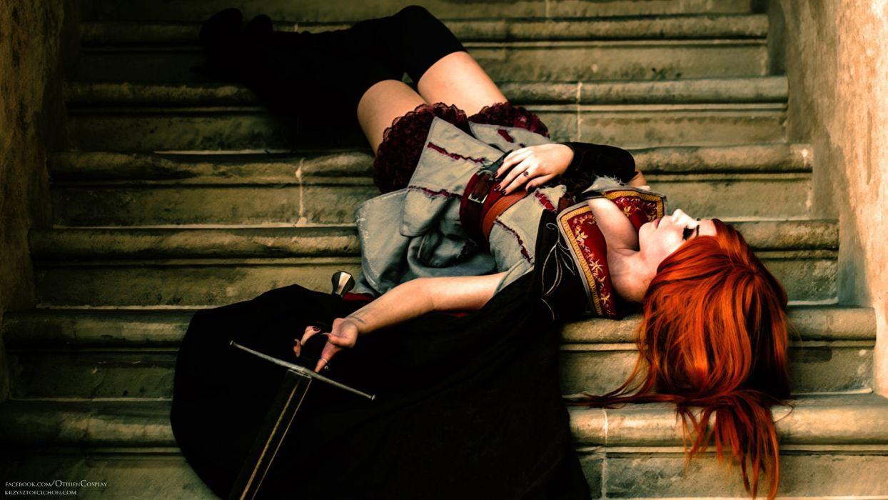 Redhead Sword Cosplay wallpaper