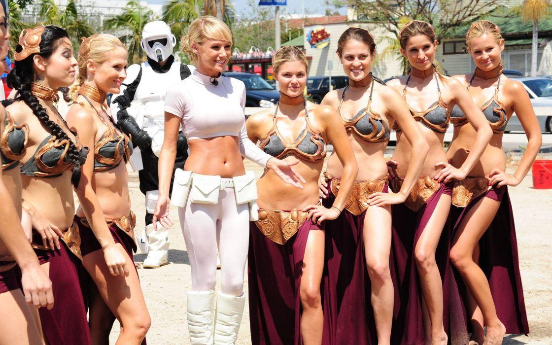 Sara Jean Underwood Blonde Star Wars Princess Leia Cosplay wallpaper