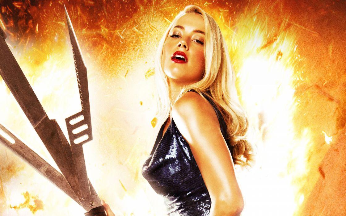 MACHETE KILLS action comedy crime amber heard sexy babe fire   f wallpaper