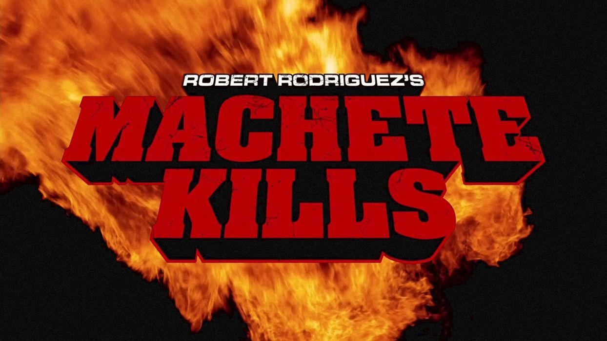 MACHETE KILLS action comedy crime poster fire     f wallpaper
