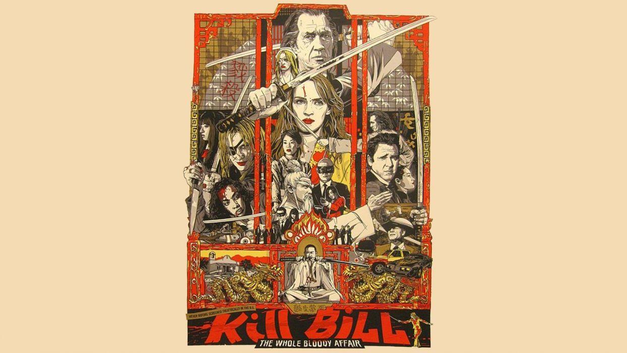 KILL BILL action crime martial arts comics poster    f wallpaper