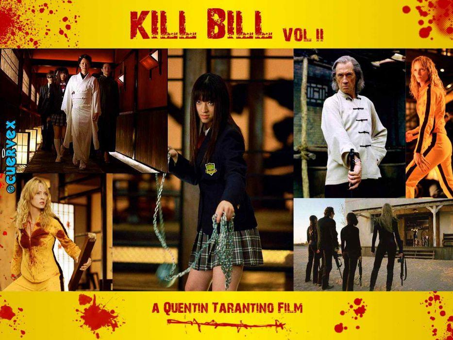 KILL BILL action crime martial arts poster blood      f wallpaper