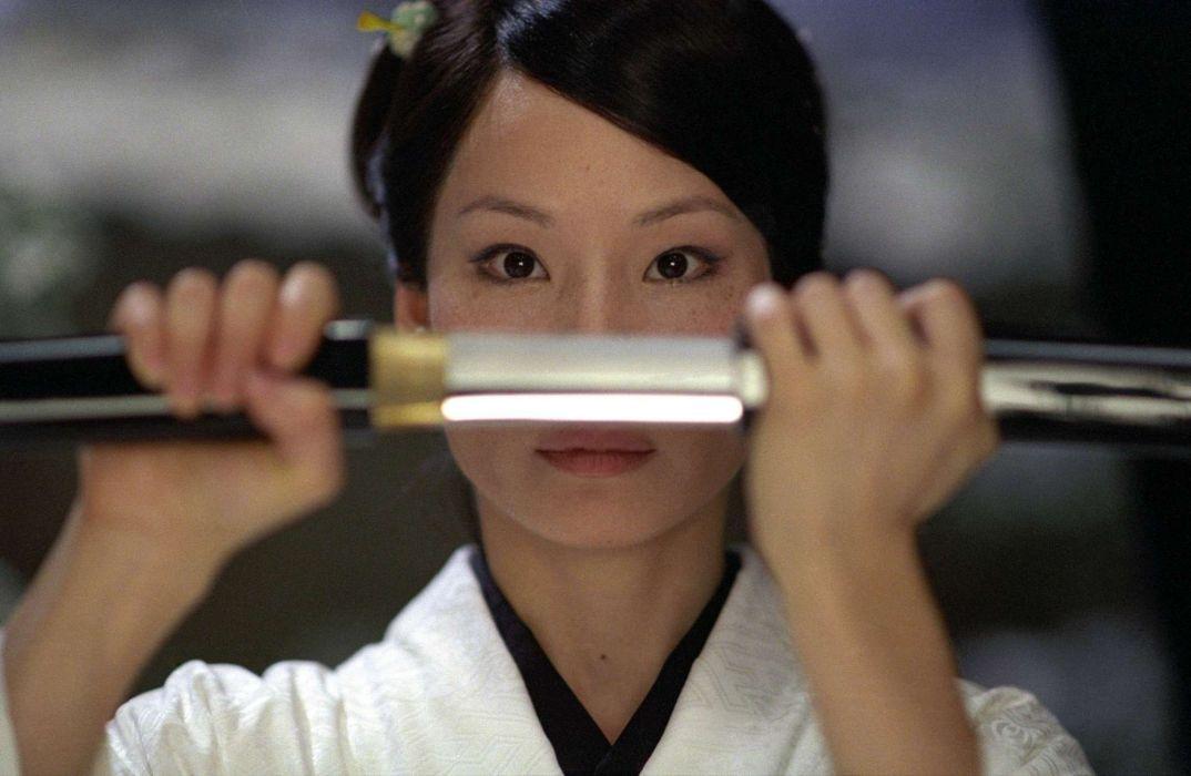 KILL BILL action crime martial arts warrior weapon katana sword asian babe     f wallpaper