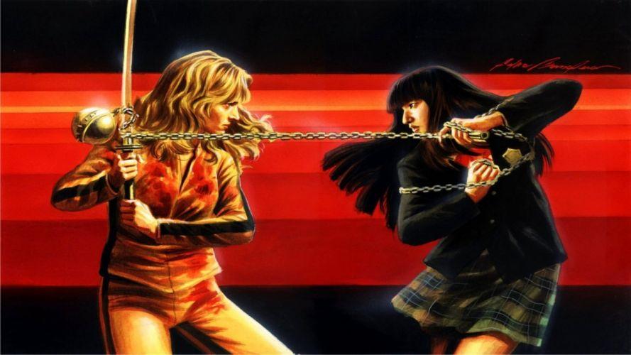 KILL BILL action crime martial arts warrior weapon katana sword battle d wallpaper