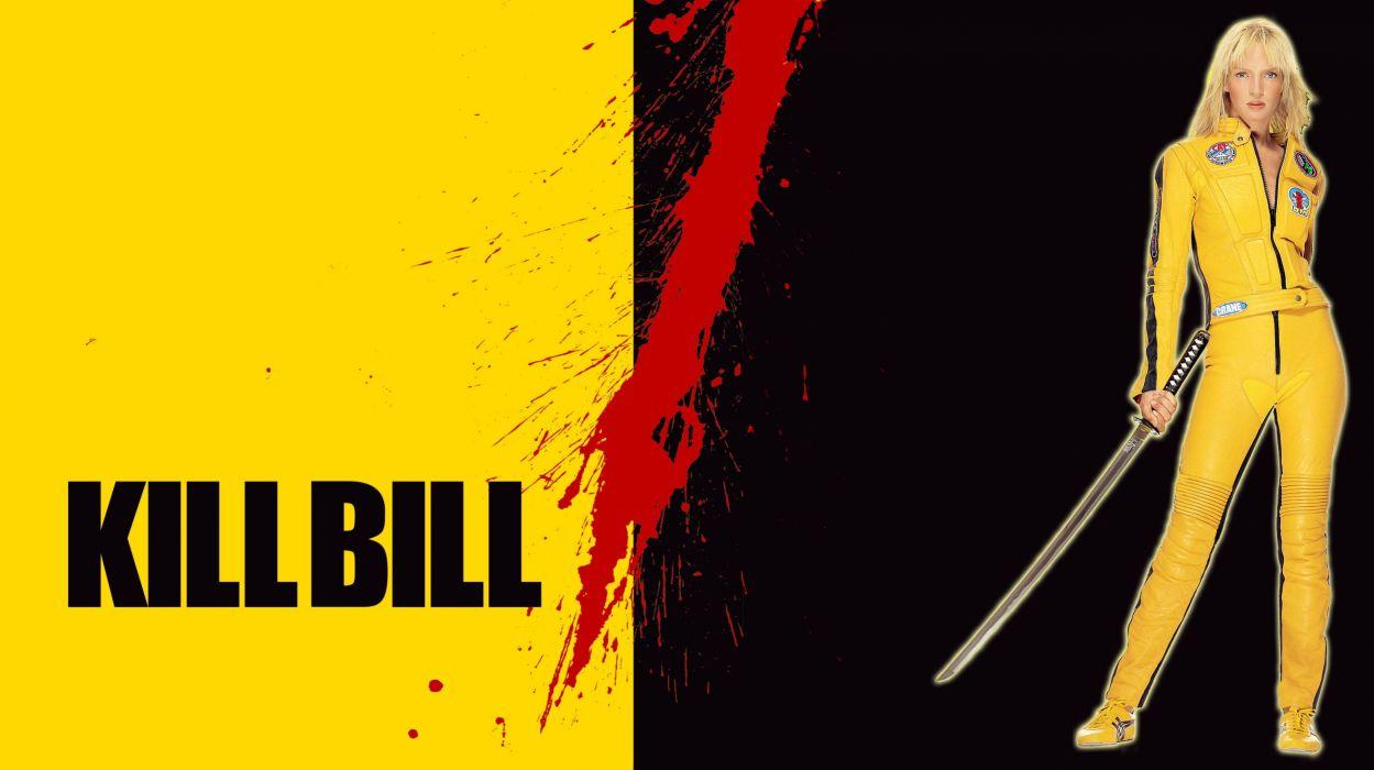 KILL BILL action crime martial arts warrior weapon katana sword blood poster  c wallpaper