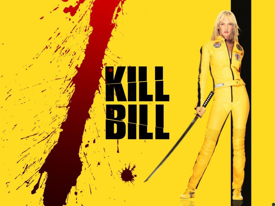 KILL BILL action crime martial arts warrior weapon katana sword blood poster  f wallpaper