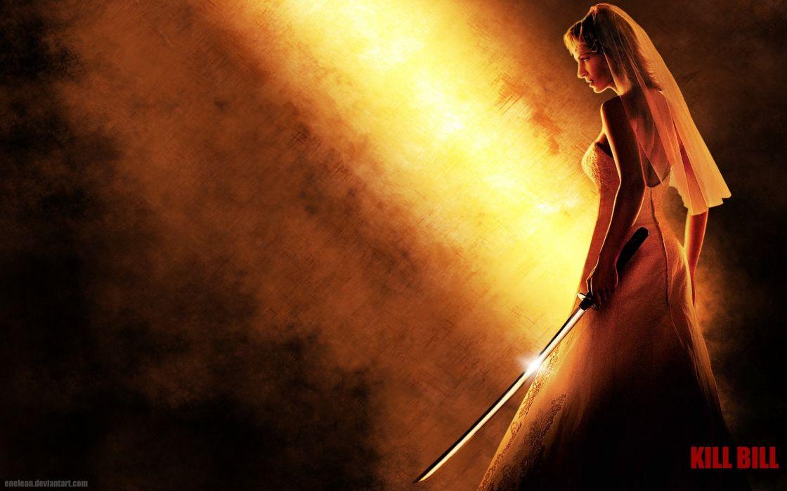 KILL BILL action crime martial arts warrior weapon katana sword bride poster g wallpaper