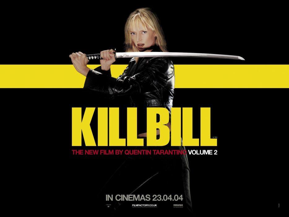 KILL BILL action crime martial arts warrior weapon katana sword poster    d wallpaper