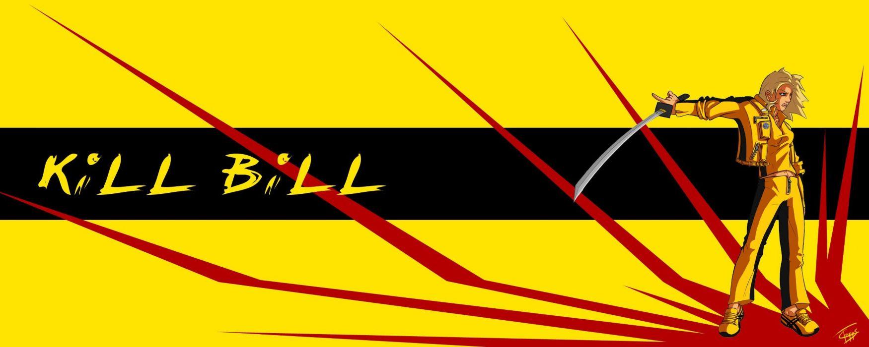 KILL BILL action crime martial arts warrior weapon katana sword poster    g wallpaper