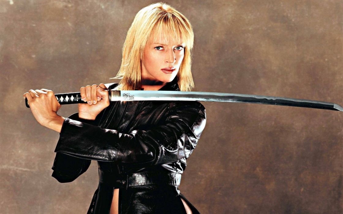 KILL BILL action crime martial arts warrior weapon katana sword uma blonde sexy babe    f wallpaper