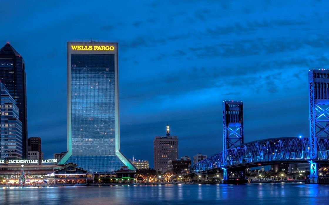 cityscapes Jacksonville cities wallpaper