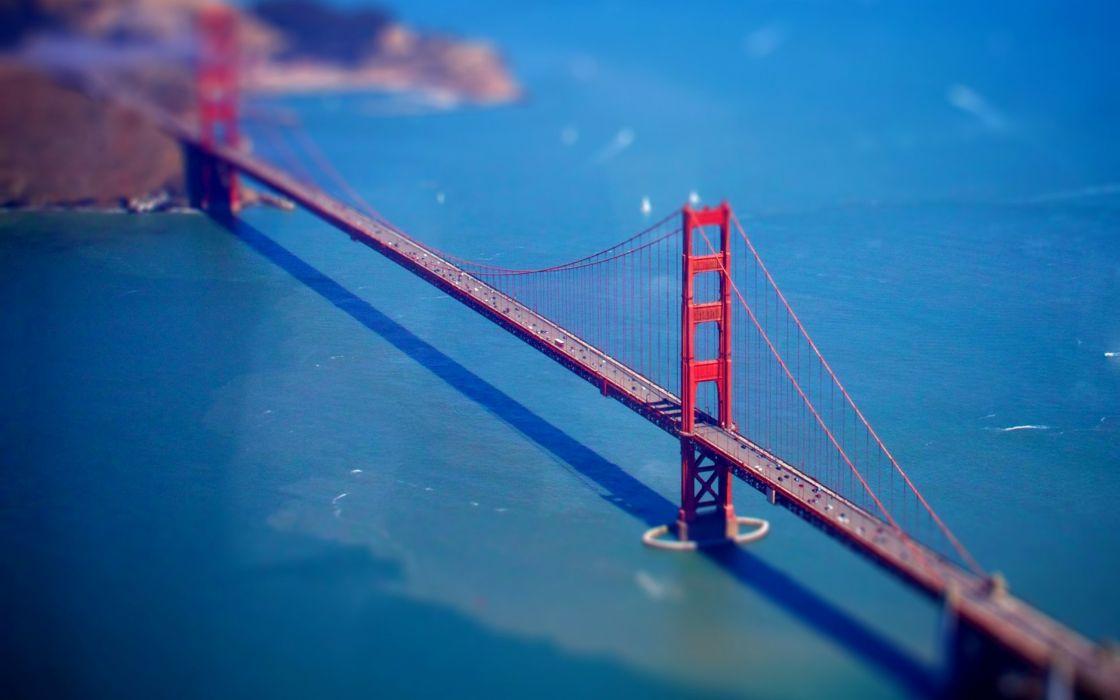 bridges tilt-shift wallpaper