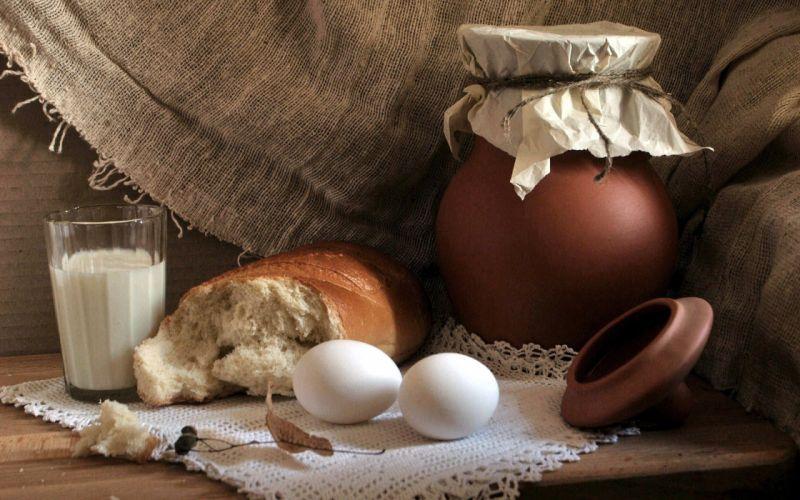 nature eggs milk food bread villages breakfast wallpaper