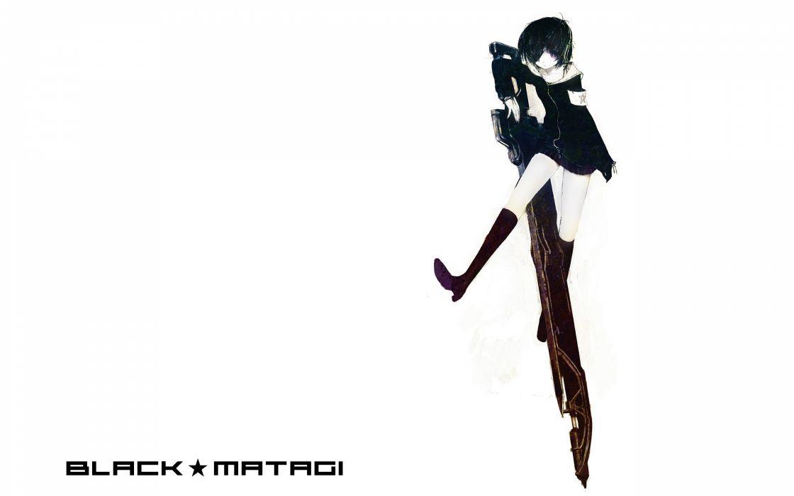 Black Rock Shooter simple background anime girls Black Matagi white background wallpaper