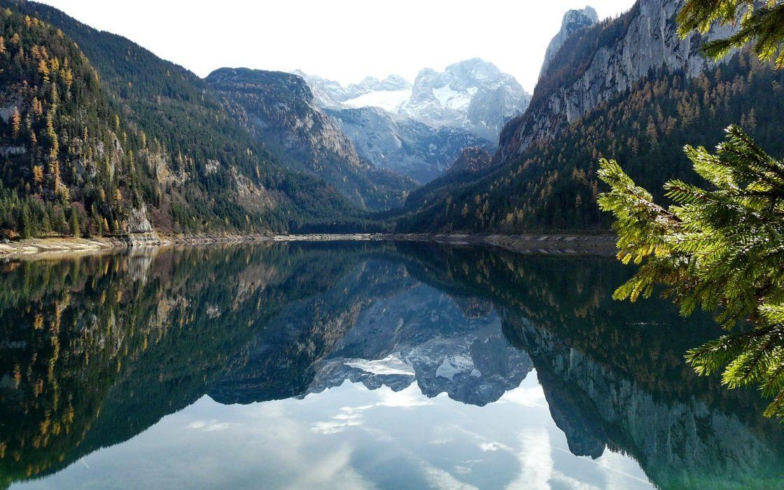 landscapes forests valleys lakes wallpaper