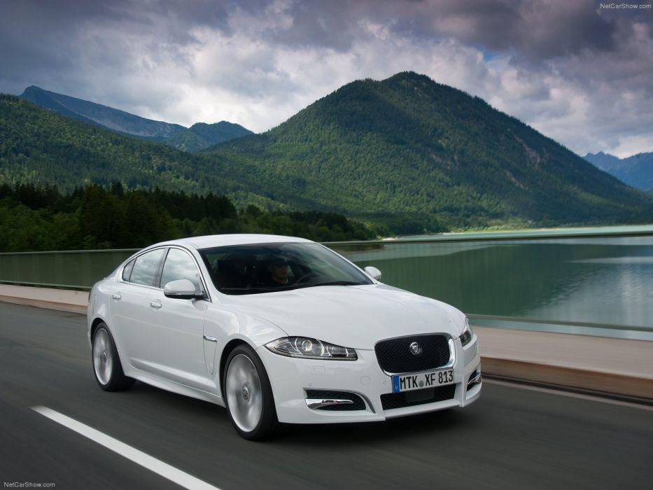 white cars Jaguar XF wallpaper