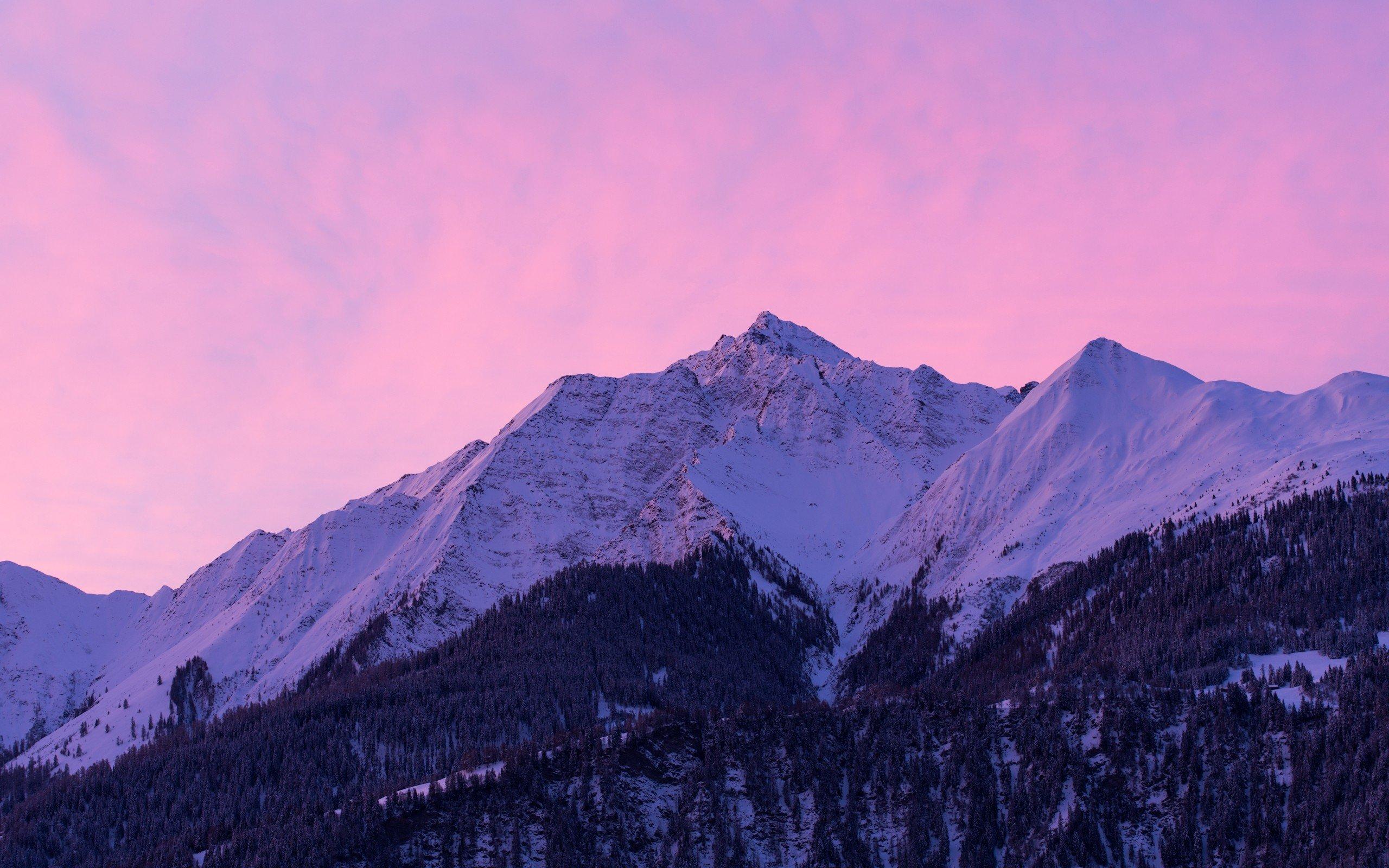 pink snow mountain wallpaper - photo #3