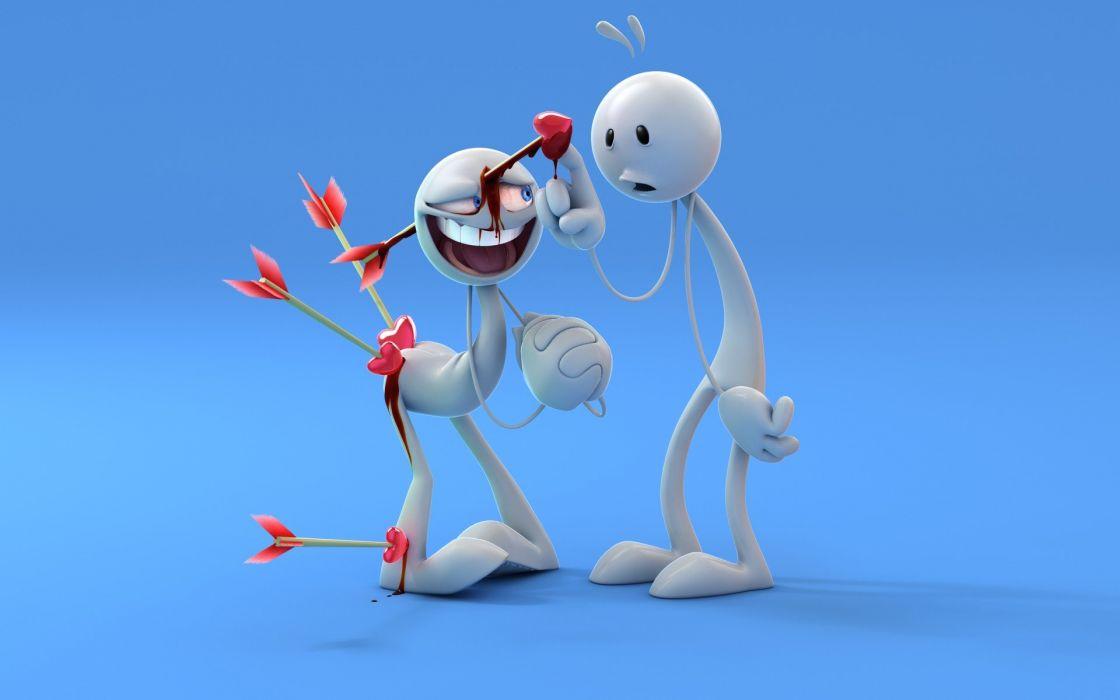 love happy funny arrows wallpaper