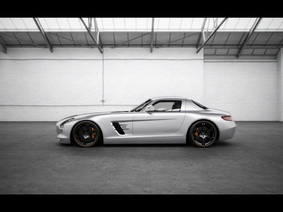 white studio silver Mercedes-Benz Mercedes-Benz SLS AMG E-Cell wallpaper