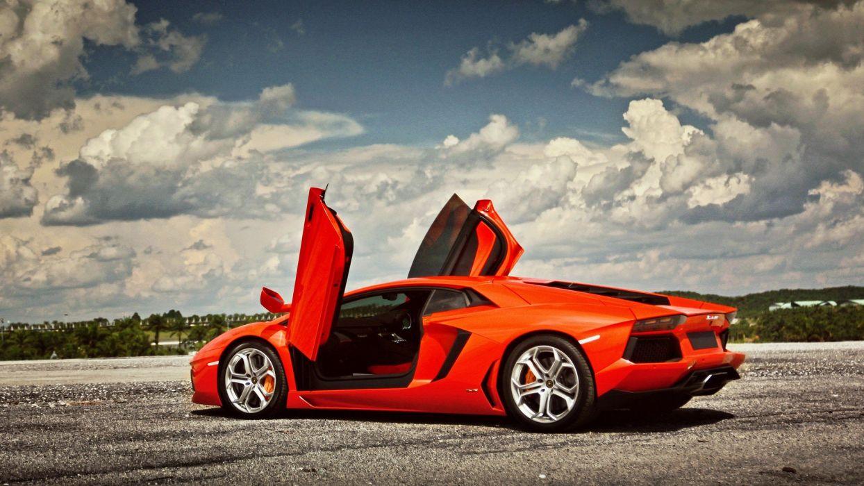 cars vehicles wheels Lamborghini Aventador races racing cars speed automobiles wallpaper