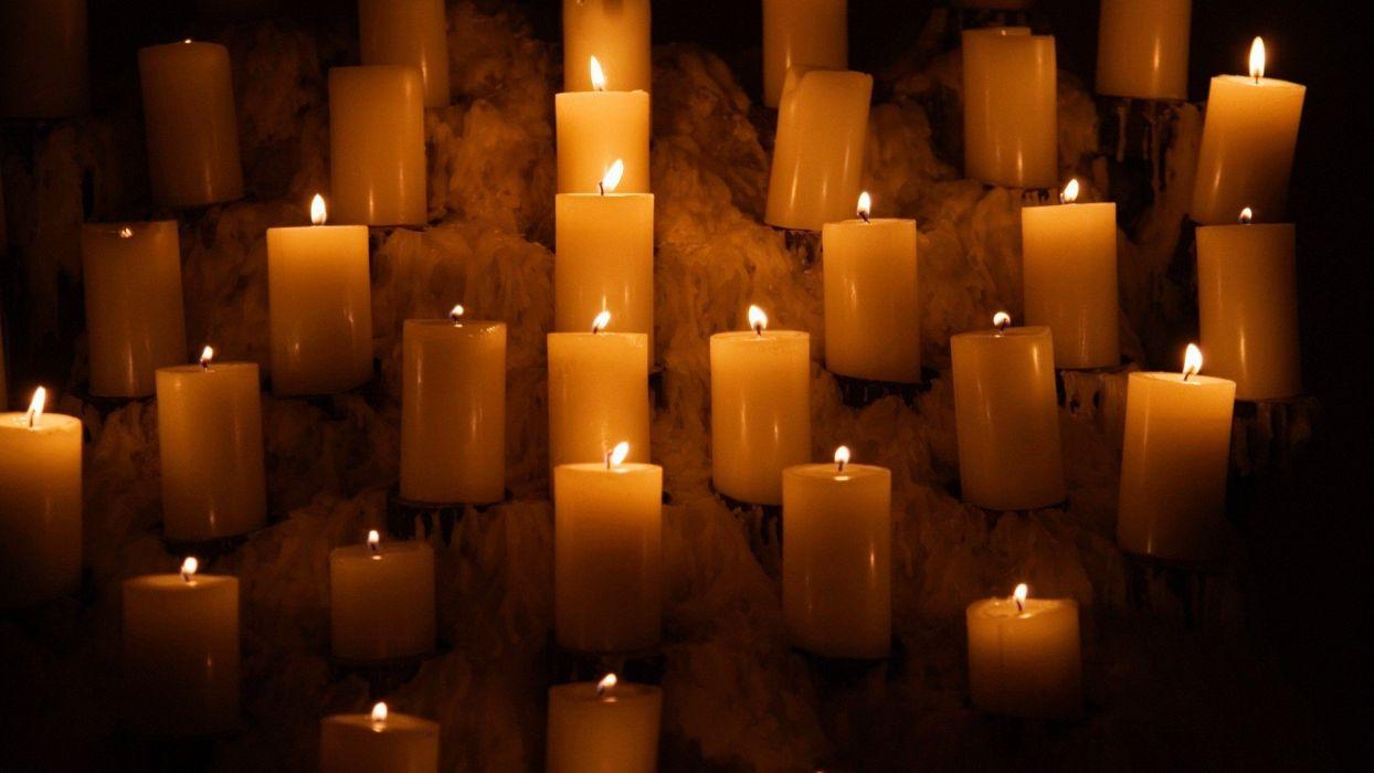 lights candles wallpaper