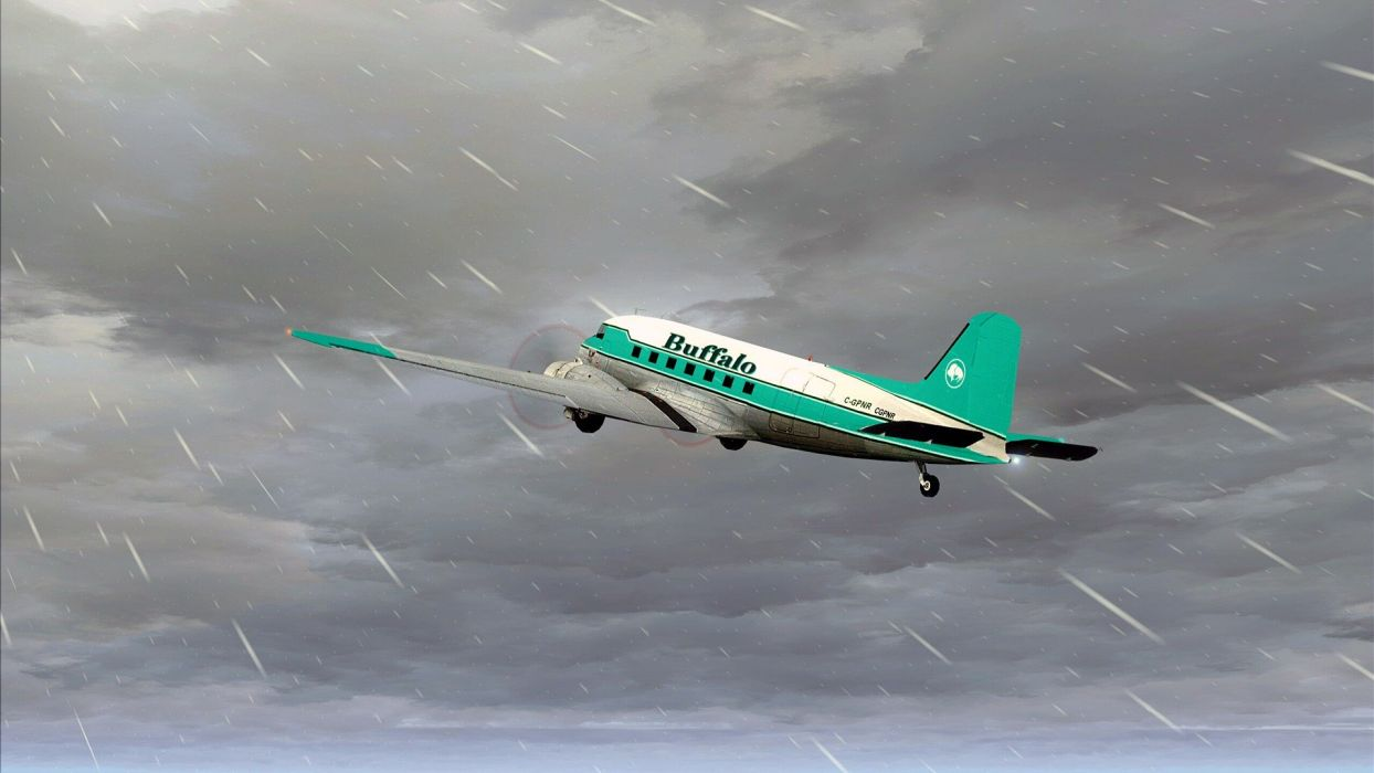 Warbird DC-3 Photoshop Ice Pilots NWT Buffalo Airways Reality TV wallpaper