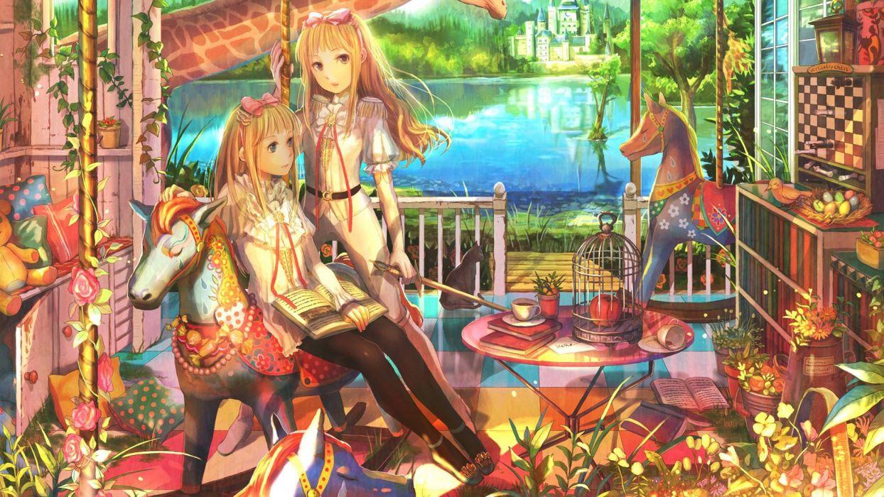 anime Fuji Choko original characters wallpaper