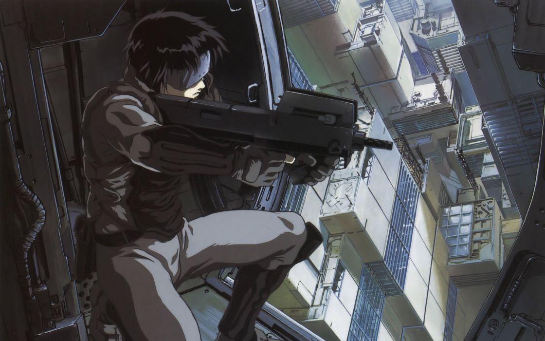 Guns Kusanagi Motoko Major Anime Ghost In The Shell