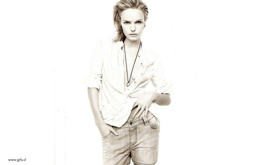 women Kate Bosworth white background wallpaper