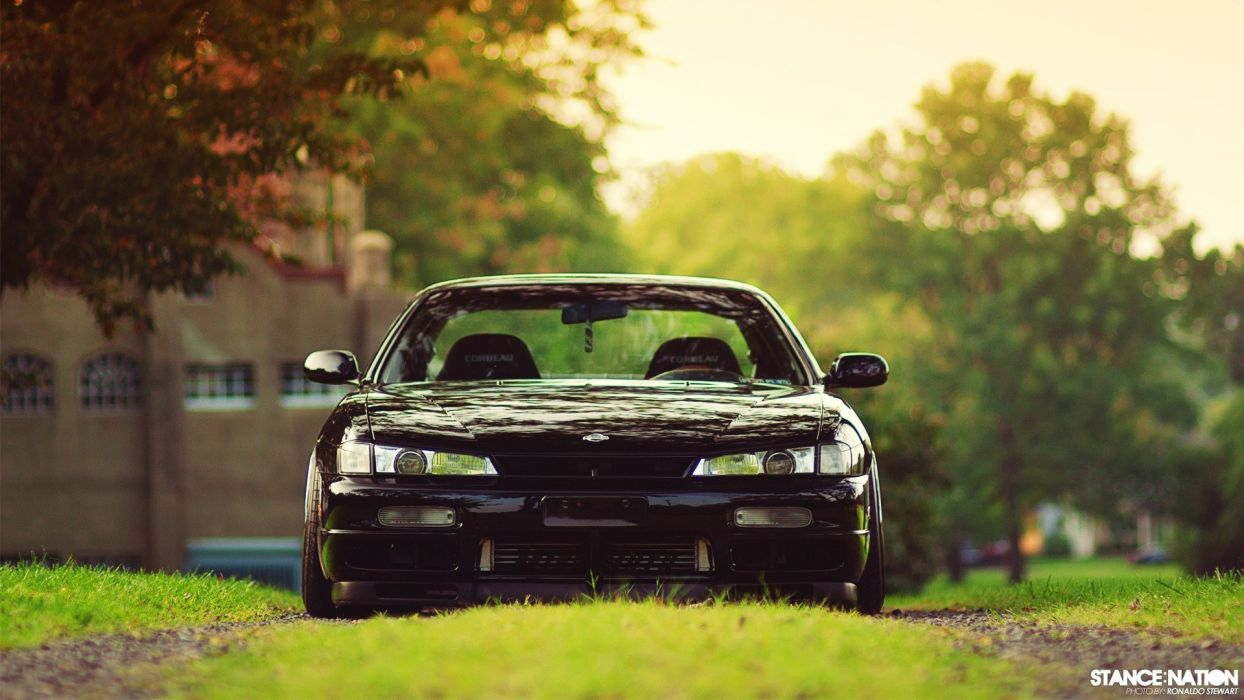 cars Nissan 240Sx black cars stance kouki wallpaper