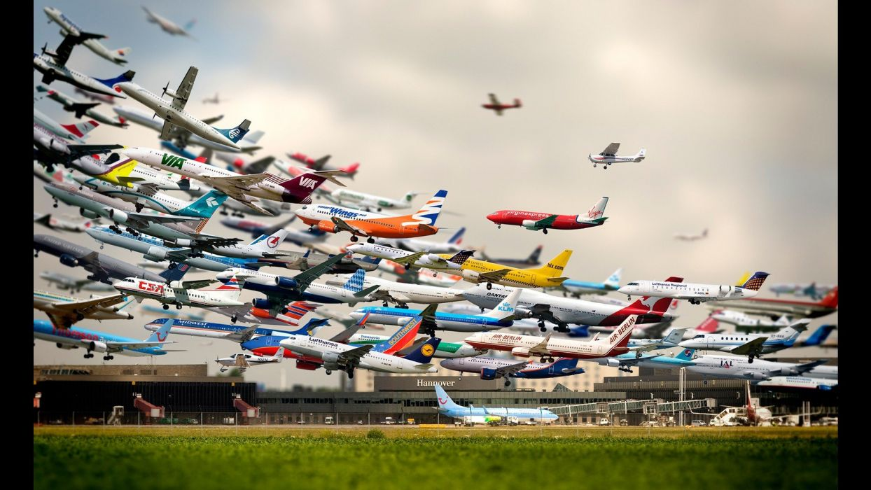 aircraft airports time lapse wallpaper
