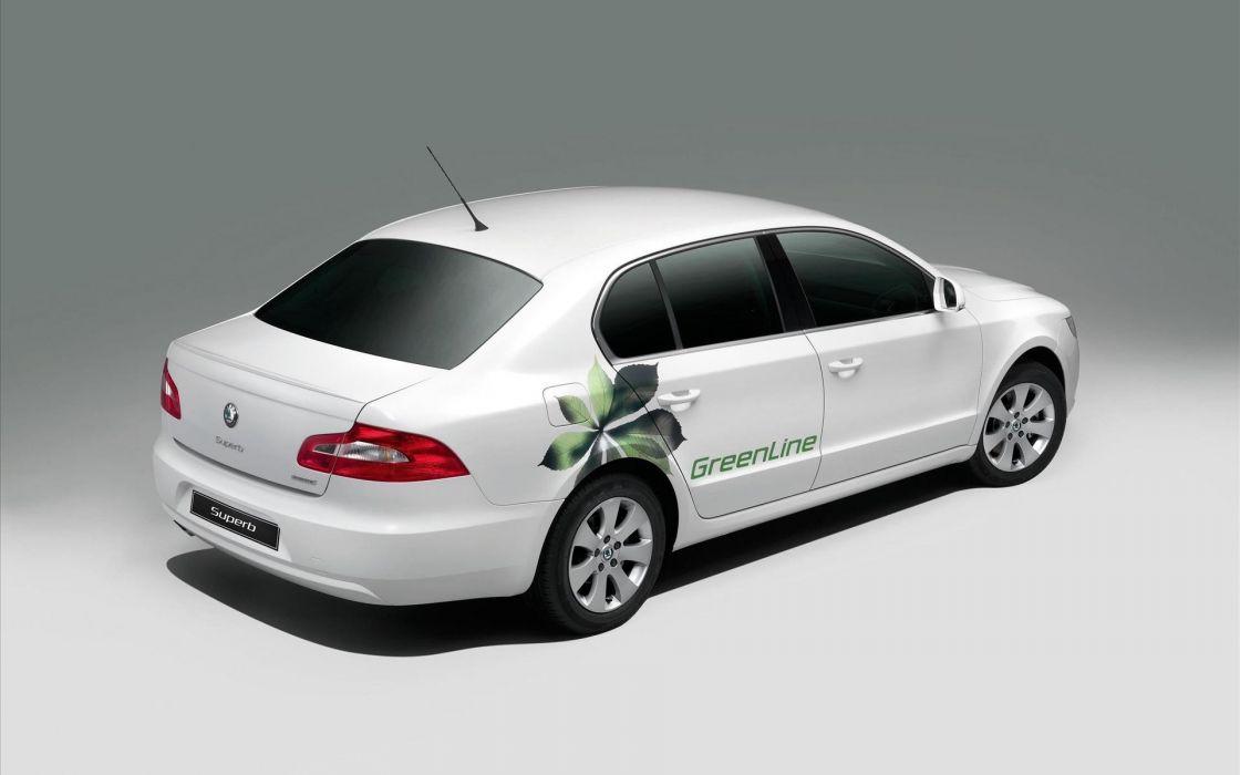 cars Skoda white cars wallpaper