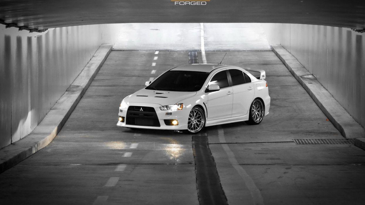 black and white cars lancer tuning Mitsubishi Lancer Evolution X JDM Japanese domestic market wallpaper