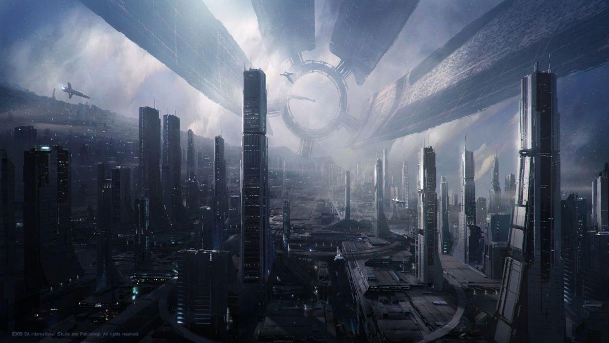fantasy video games Mass Effect citadel wallpaper