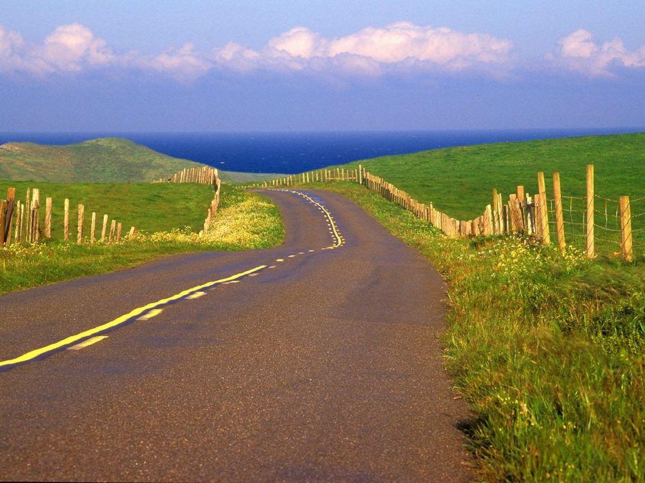 point California roads sea shorelines wallpaper
