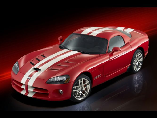 red front Dodge Viper coupe SRT10 wallpaper