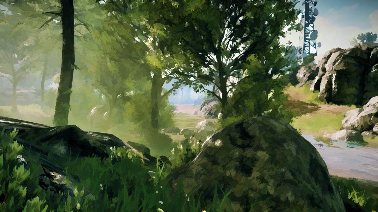 video games landscapes trees Battlefield 3 wallpaper