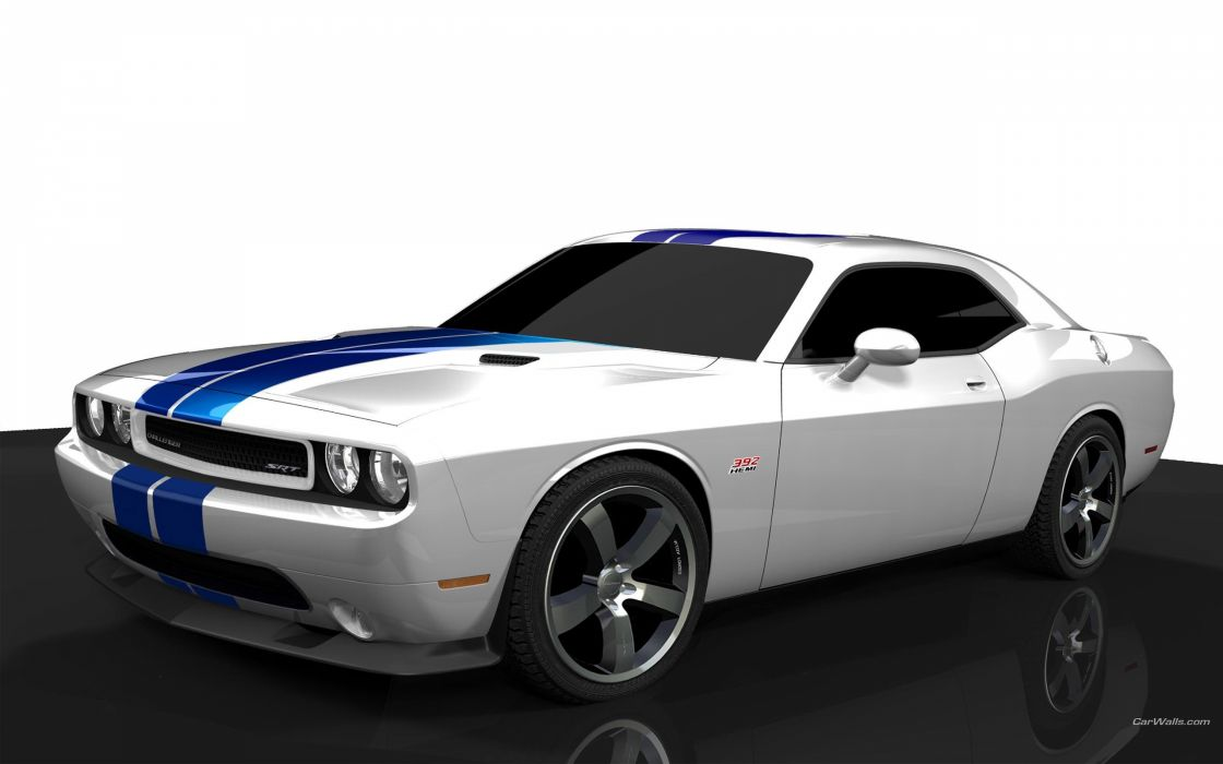 cars 3D modeling Dodge Challenger wallpaper