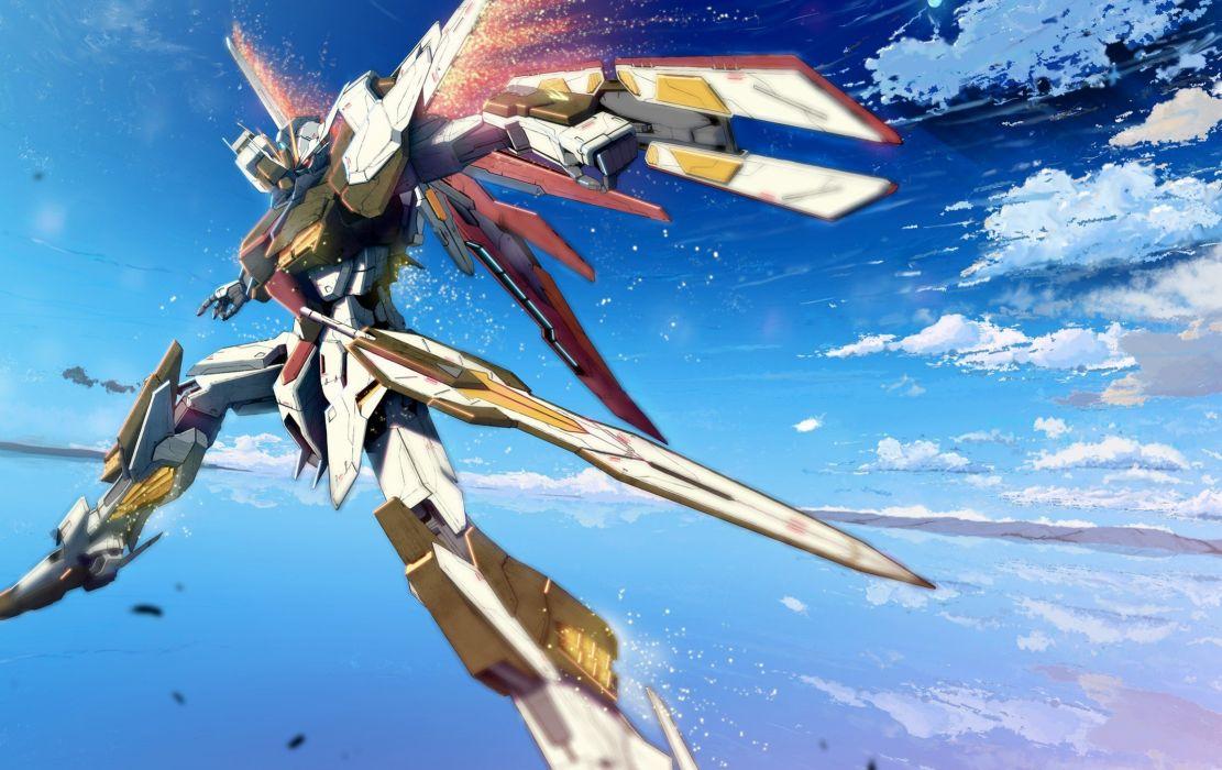 clouds Gundam Mobile Suit Gundam mecha wallpaper