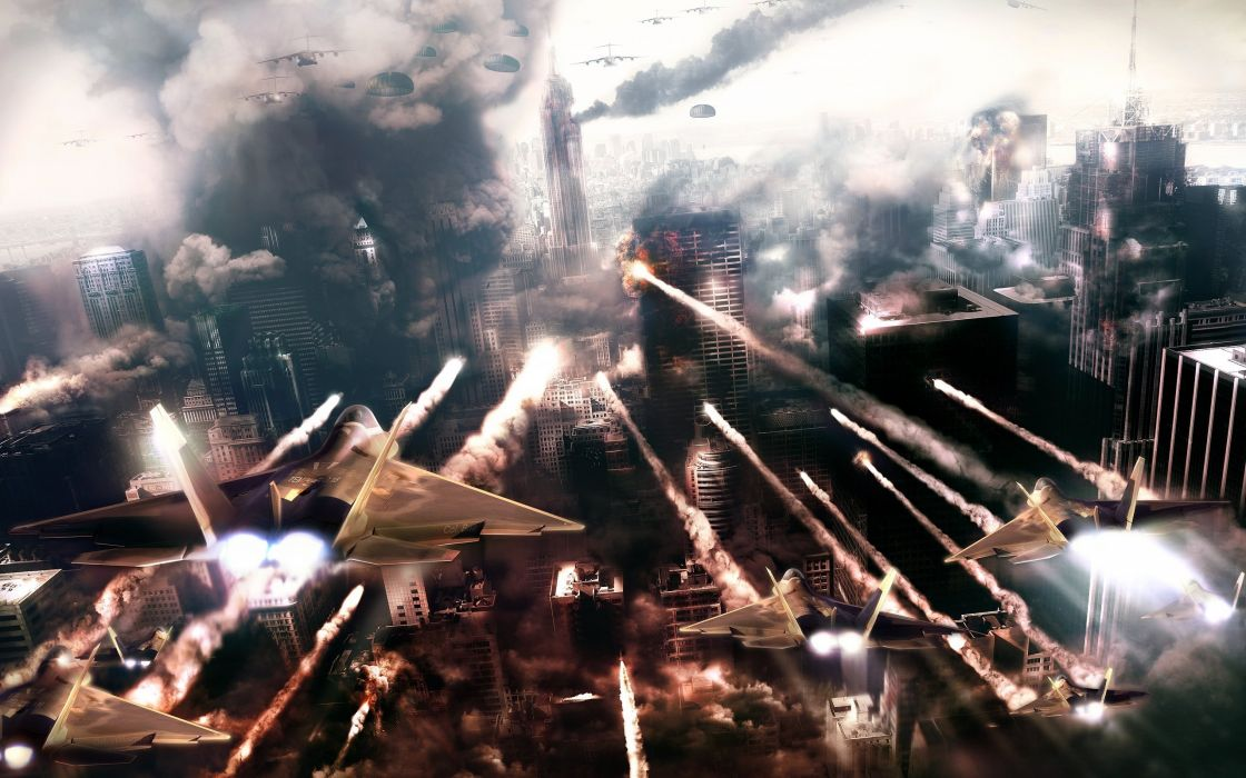 video games cityscapes missiles jet aircraft Prototype 2 (video game) wallpaper