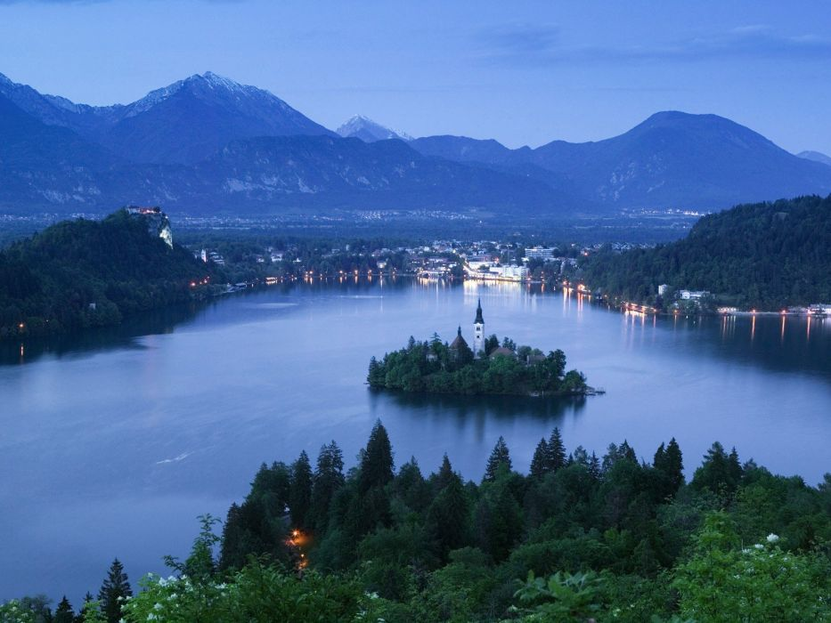 Slovenia lake bled wallpaper