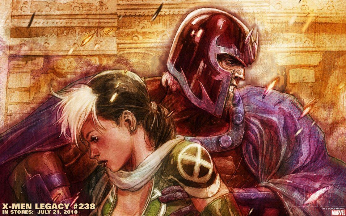 Magneto Rogue Marvel Comics Wallpaper
