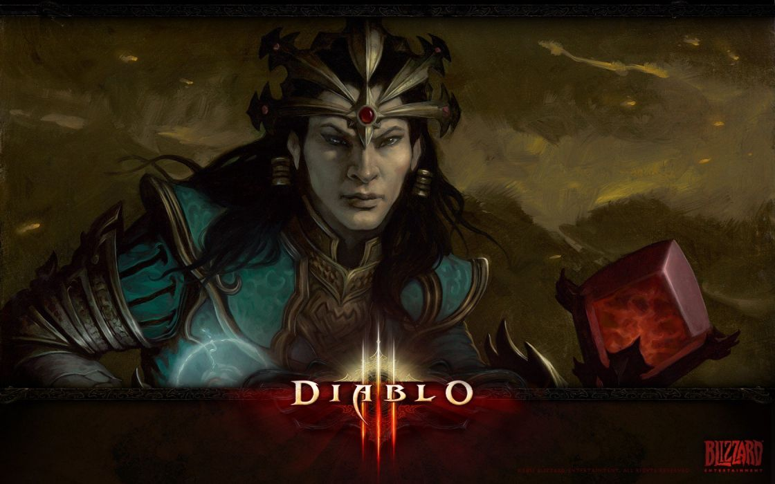 video games sorcerer artwork Diablo III wallpaper