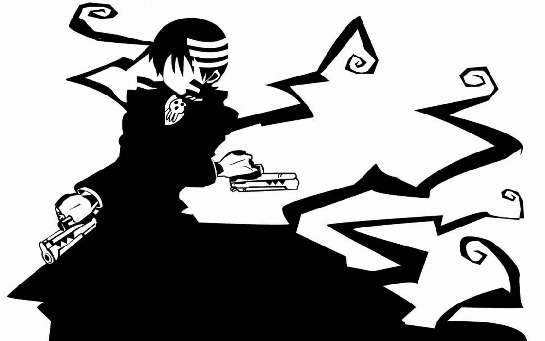 Soul Eater Death The Kid simple background wallpaper