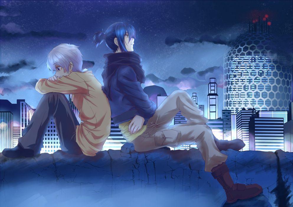 cityscapes anime anime boys Nezumi No_ 6 Shion (No_6) wallpaper