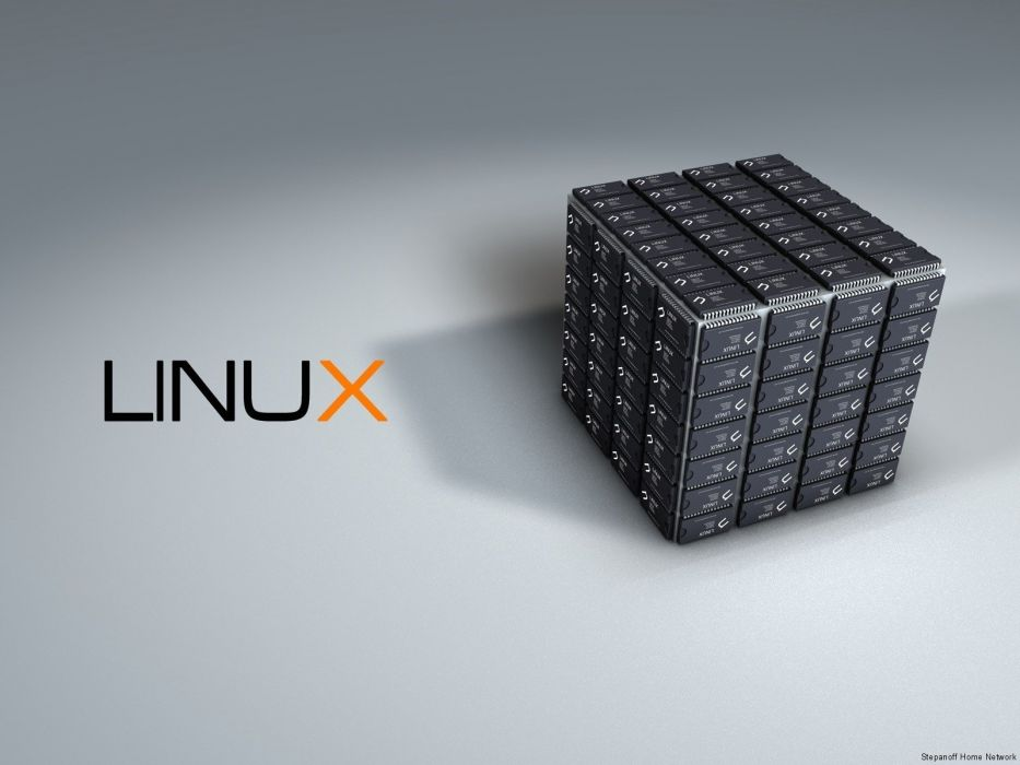 Linux technology operating systems cubes wallpaper