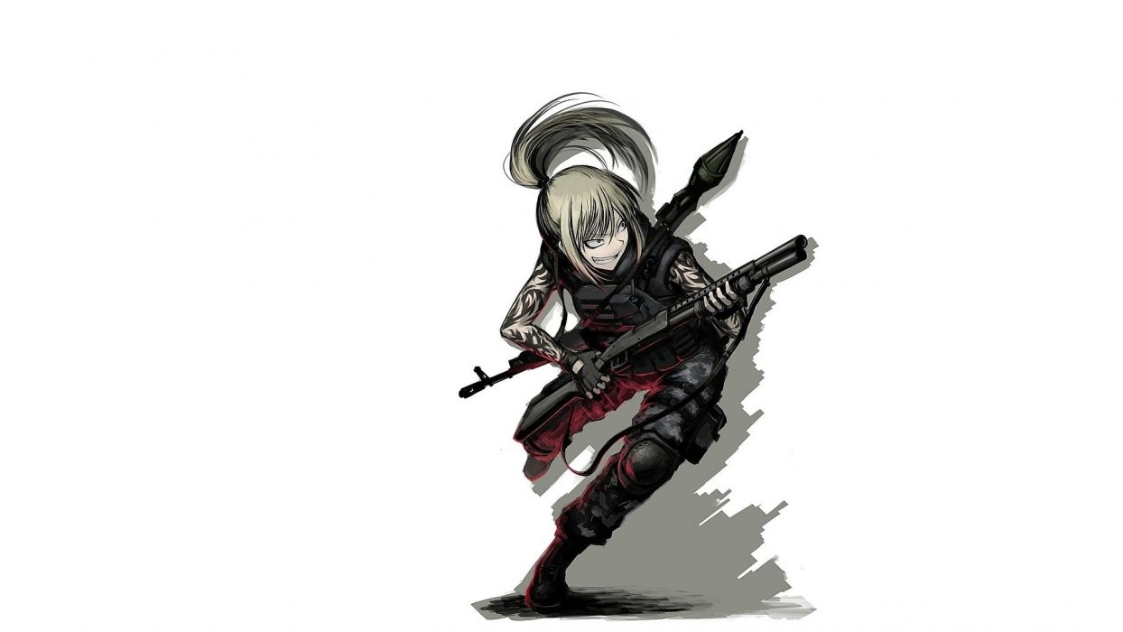 boots long hair shotguns weapons armor RPG-7 jorgumand wallpaper