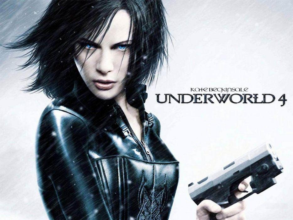 UNDERWORLD action fantasy thriller dark vampire warrior weapon gun pistil poster f wallpaper