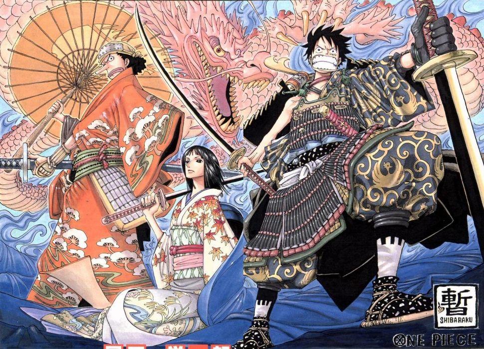One Piece (anime) Nico Robin Monkey D Luffy wallpaper