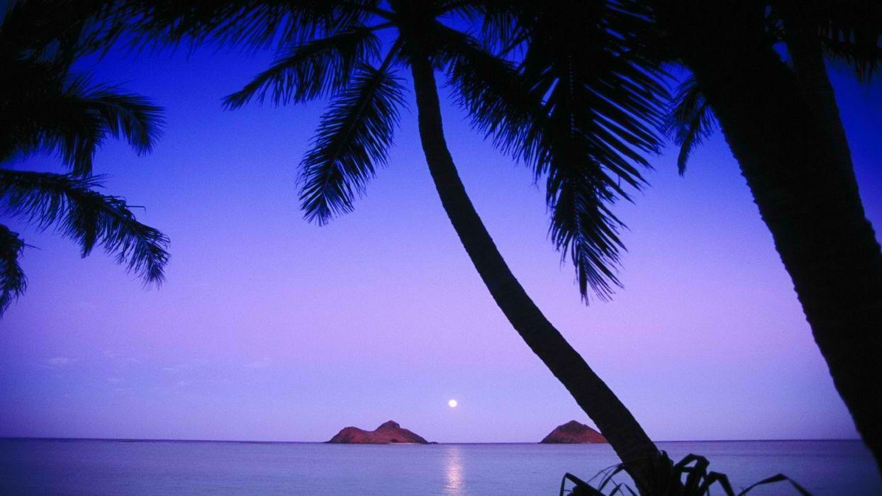 Hawaii islands Oahu beaches wallpaper